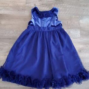 Girls navy fancy dress
